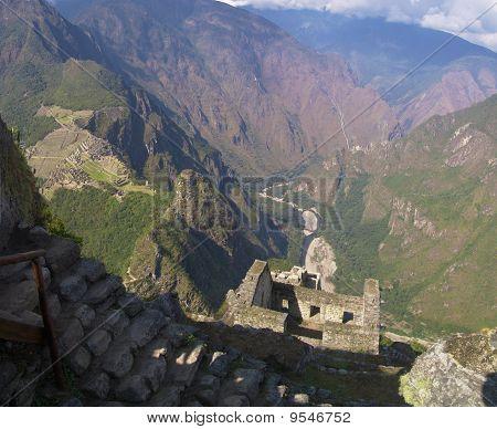 Wayna Picchu ruins and Machu Picchu view