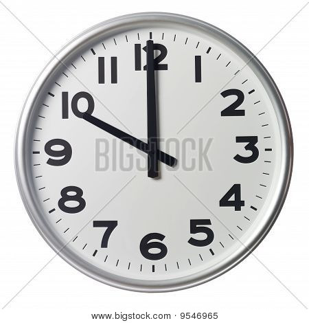 Clock showing Ten O'Clock on white background poster