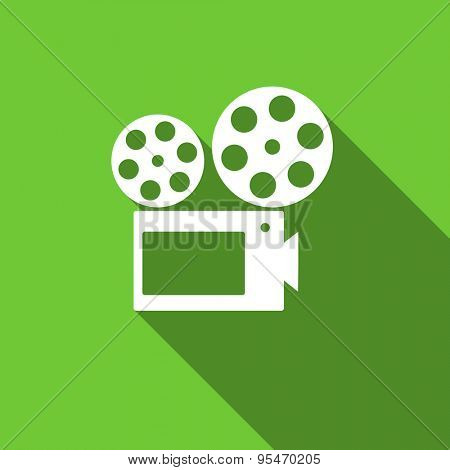 movie flat icon cinema sign original modern design flat icon for web and mobile app with long shadow