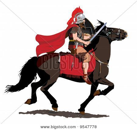 Roman Soldier on Horseback
