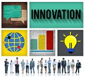 Innovation Technology Development Creative Invention Concept poster