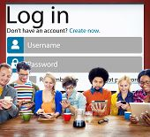 Log in Password Identity Internet Online Privacy Protection Concept poster