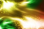 Abstract wallpaper with sparks and color waves poster