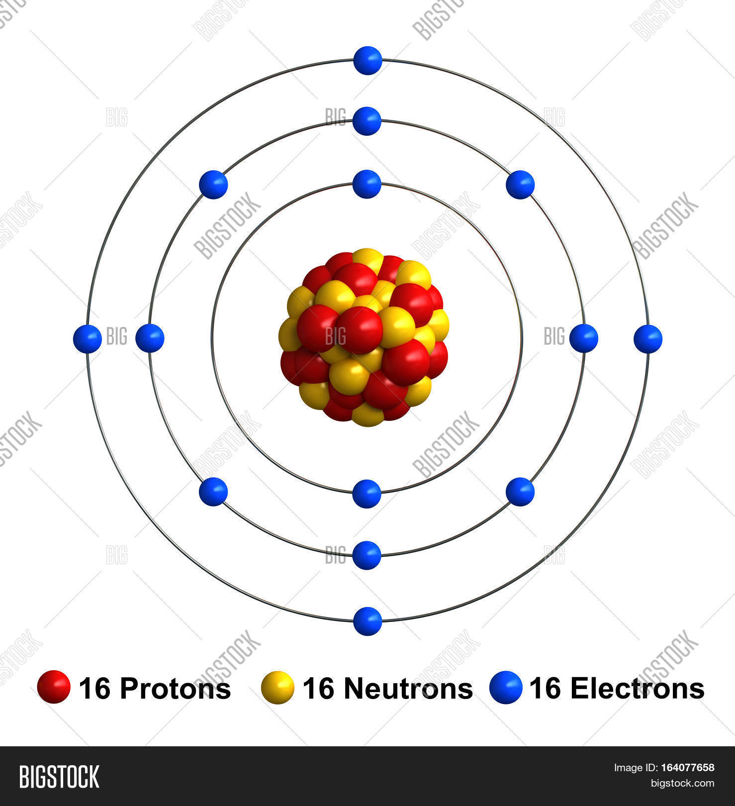 3d render atom image photo free trial bigstock 3d render of atom structure of sulfur isolated over white background protons are represented as red ccuart Choice Image