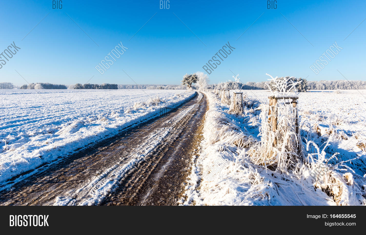 rutted road covered by image photo free trial bigstock