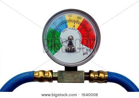 Colorful Pressure Gauge