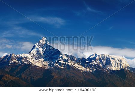 Machhapuchhre (Fishtail) mountain in Nepal