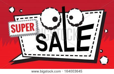 Super Sale Design Cartoon Banner Template