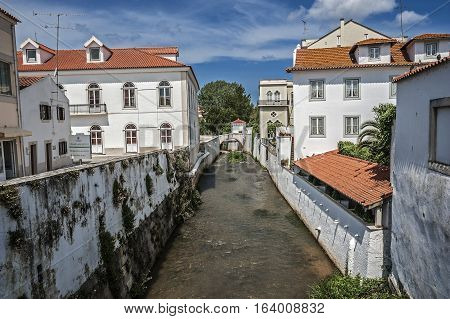 Portugal Alcobaça . Here merge two small rivers Alcoa and Bass hence the name of the town that grew up around the first Cistercian monastery in Portugal.