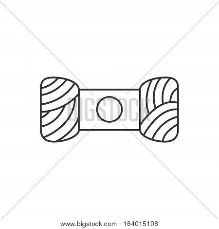 Skein of yarn icon or logo line art style. Vector Illustration.