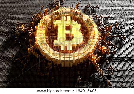 Pixel Bitcoin Concept
