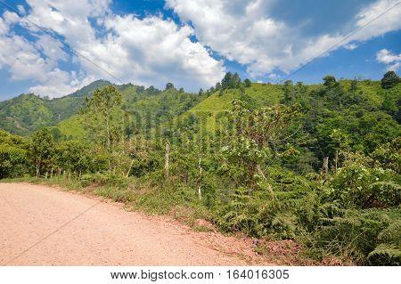 Landscapes around the highlands of Taulabe and Cerro Azul national park near Lake de Yojoa, Western Honduras. Central America