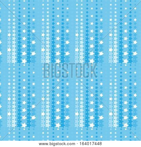 blue and white star halftone pattern background vector illustration