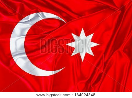 OTTOMAN Empire, Flag OTTOMAN Flag Design and Presentation
