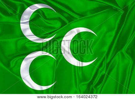 OTTOMAN, Flag OTTOMAN Empire Flag Design and Presentation