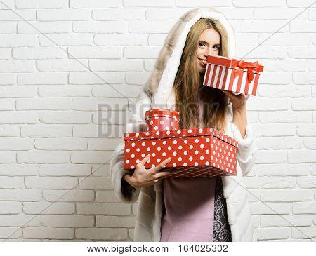 Fashionable Sexy Girl In Fur
