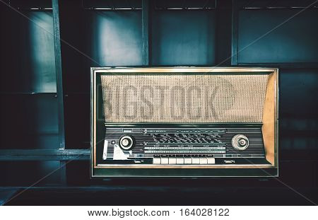 Old Classic Vintage Radio Or Tape Cassette Music Player