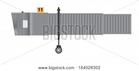 aerobridge or Jetway or Jet bridge Isolated on white background Vector Illustration