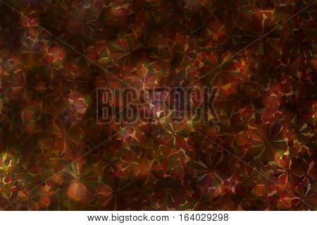 Colourful Various Shape Abstract Dark Vintage Background