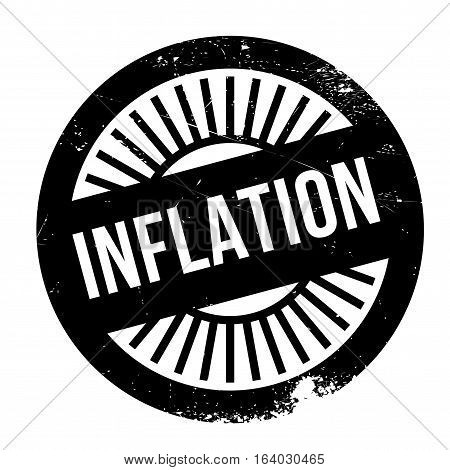 Inflation stamp. Grunge design with dust scratches. Effects can be easily removed for a clean, crisp look. Color is easily changed.