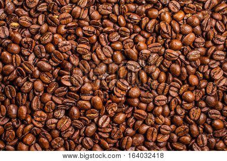 Coffee beans gourmet, roasted, macro dark energy espresso