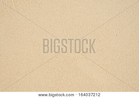 Closeup of sand pattern of a beach in the summer. Beach background. Top view