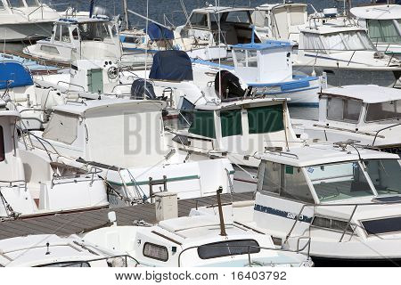 Lots Of Small Boats In A Marina