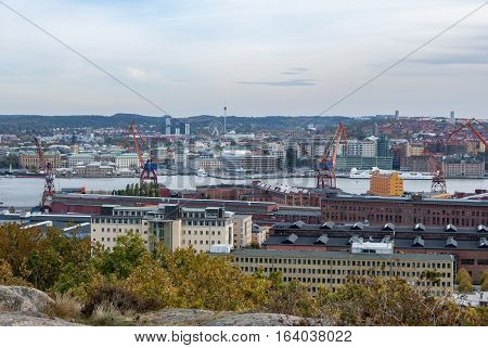 City of Gothenburg in Sweden, view from Ramberget