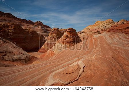 Desert of The Wave Coyote Buttes Paria Canyon-Vermilion Cliffs Wilderness, Utah, United States of America