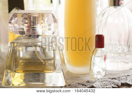 bottle of perfumes for beauty charm and appeal