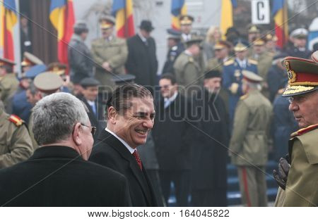 BUCHAREST ROMANIA - DECEMBER 1 2009: Prince Paul of Romania is taking part to a military parade on National Day of Romania. More than 3000 soldiers and personnel from security agencies take part in the massive parades on National Day of Romania.