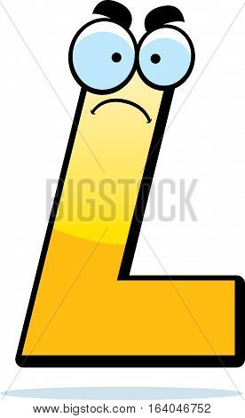 Angry Cartoon Letter L