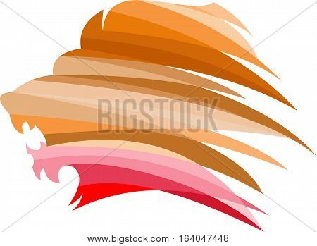 logo illustration animal lion virtual image colorful