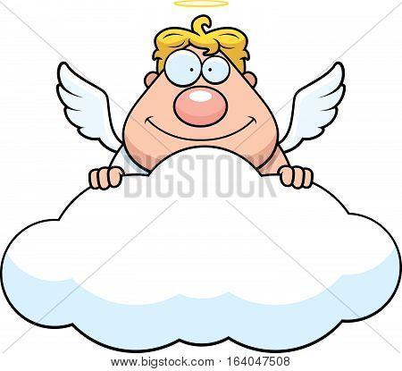 Cartoon Angel Cloud
