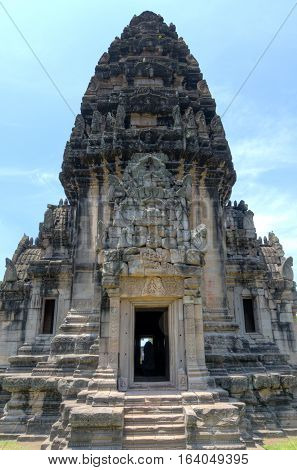 Phimai Temple in Northeast Thailand is one of the major Khmer monuments found outside of Cambodia