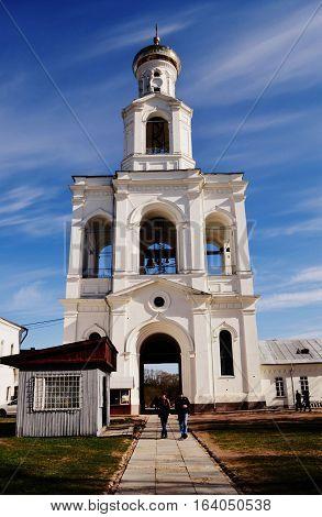 St. George's Monastery, the largest of the Novgorod monasteries.