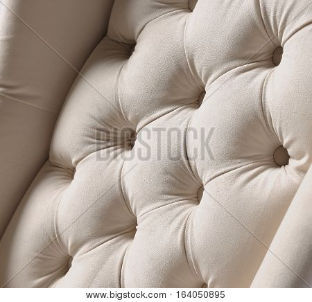 Luxury upholstered furniture, comfortable, stylish, attractive colors,closeup, isolated on white background