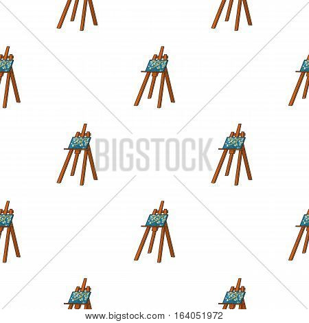 Easel with masterpiece icon in pattern style isolated on white background. Artist and drawing symbol vector illustration.