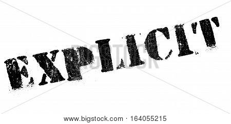 Explicit rubber stamp. Grunge design with dust scratches. Effects can be easily removed for a clean, crisp look. Color is easily changed.
