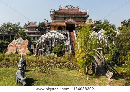 the birthplace of Buddha, Lumbini Nepal Vietnamese temple