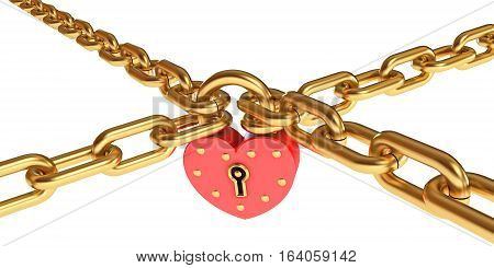 Padlock In A Heart-shaped