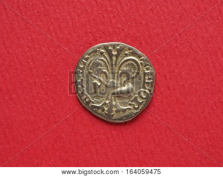 modern replica of a gold Florin (Florence 1256 onwards)