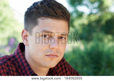 Head And Shoulders Portrait Of Concerned Man