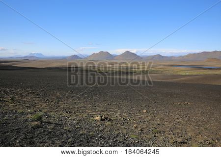 Volcano Landscape in the North of Iceland
