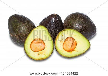 Avocado Fruit On White Background