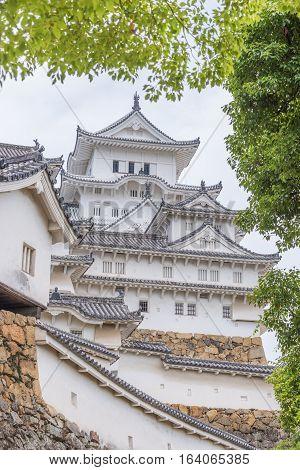Himeji castle or White Egret Castle in Hyogoo, Japan