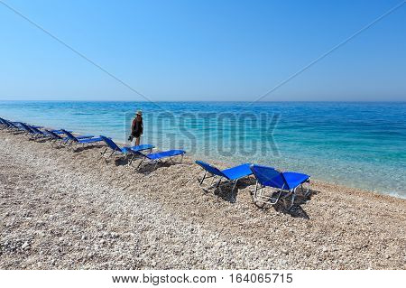 Summer Morning Beach.