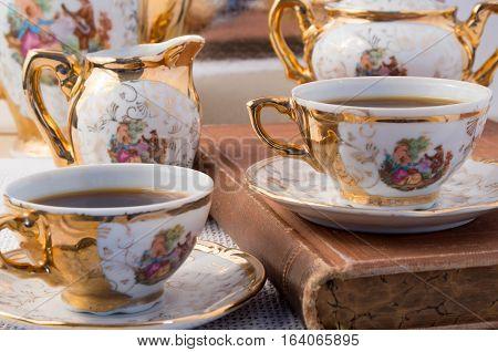 Retro Dishware From The German Bavaria 19Th Century