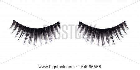 False eyelashes isolated on a white background