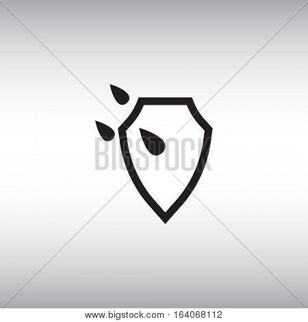 Waterproof flat vector icon. Isolated waterproof vector sign. Watertight vector symbol.